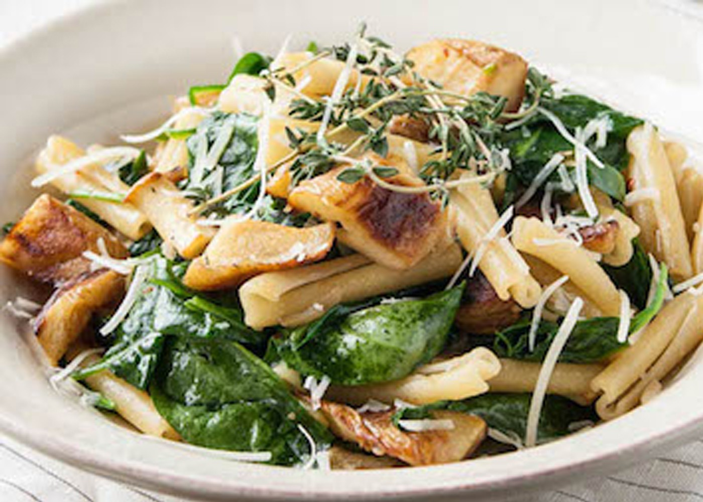 caramelized parsnip salad in a bowl