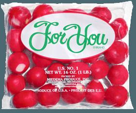 radishes in bag