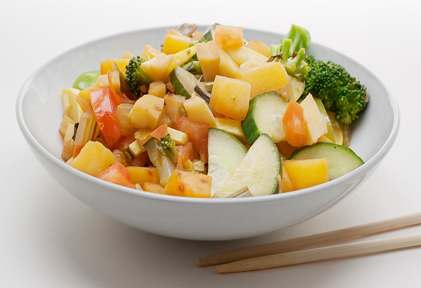 turnips and veggies in a bowl