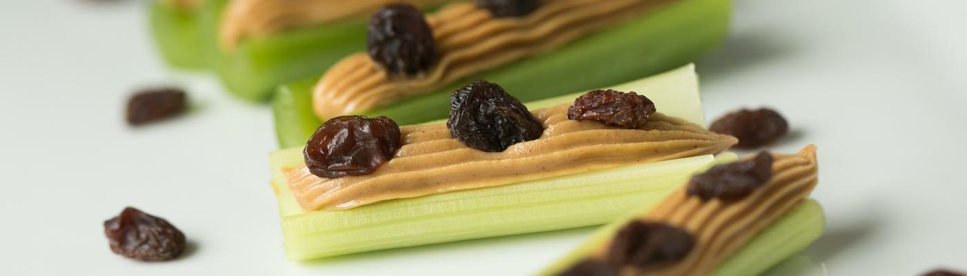ants on a log, celery